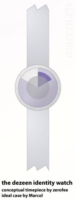The Dezeen identity watch by Marcol